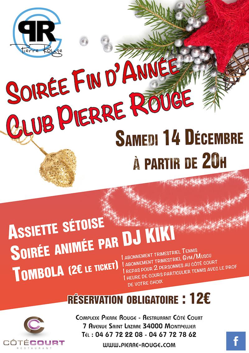 Soirée Fin d'Année Club Pierre Rouge